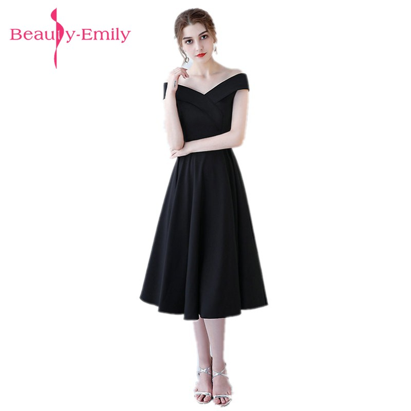 Beauty Emily Simple Black Long   Evening     Dresses   2018 Sexy V-Neck Lace Up A-Line   Evening   Gown   Evening   Party Prom   Dress   Custom Made