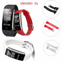 Diggro S2 Smart Bracelet Bluetooth 4 0 IP67 Waterproof Heart Rate Monitor Smart Band 0 96