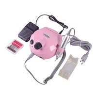 Professional 25000 RPM Electric Nail Drill Device Set Pink Acrylic With EU Plug Handpiece Holder Handpiece