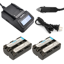 DuraPro 2Pcs NP-FM500h Battery + LCD Fast Charger for Sony Alpha A58 A350A300/A350/A450/A500/A550/A580/A700/A99/A850 SLT-A57
