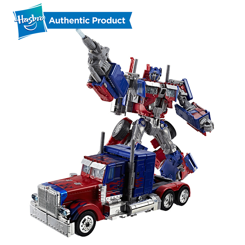 Hasbro Transformers Toys Movie 10TH Anniversary Edition Optimus Prime Autobots Leader Collection Model With Voice Flash Boy Toys