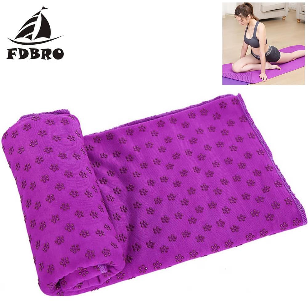 FDBRO Yoga Blanket Fitness Mat Yoga Mat Towel Non Slip Yoga Mat Cover Towel Blanket Sport Fitness Exercise Pilates Workout HOT