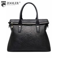 Zooler сумки женские известные бренды high end женщин кожа сумка мода Bolsas Змеиный зерно фиолетовый цвет сумка #3615