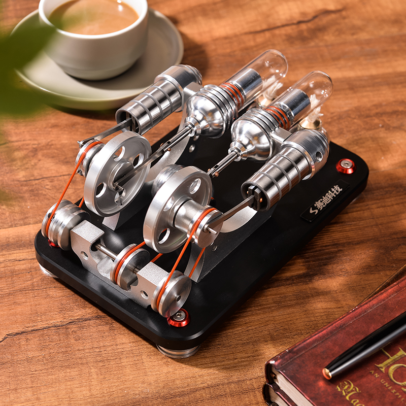 Mini Stirling Engine Generator Model External Combustion Engine Hobby Educational Toy M14-22-D Y