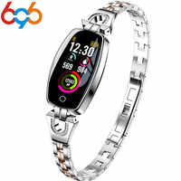 696 V88 Fashion Luxury Smart Bracelet Watch for Women Heart Rate Blood Pressure Monitor Sleep Tracker Pedometer Smartwatch Wrist