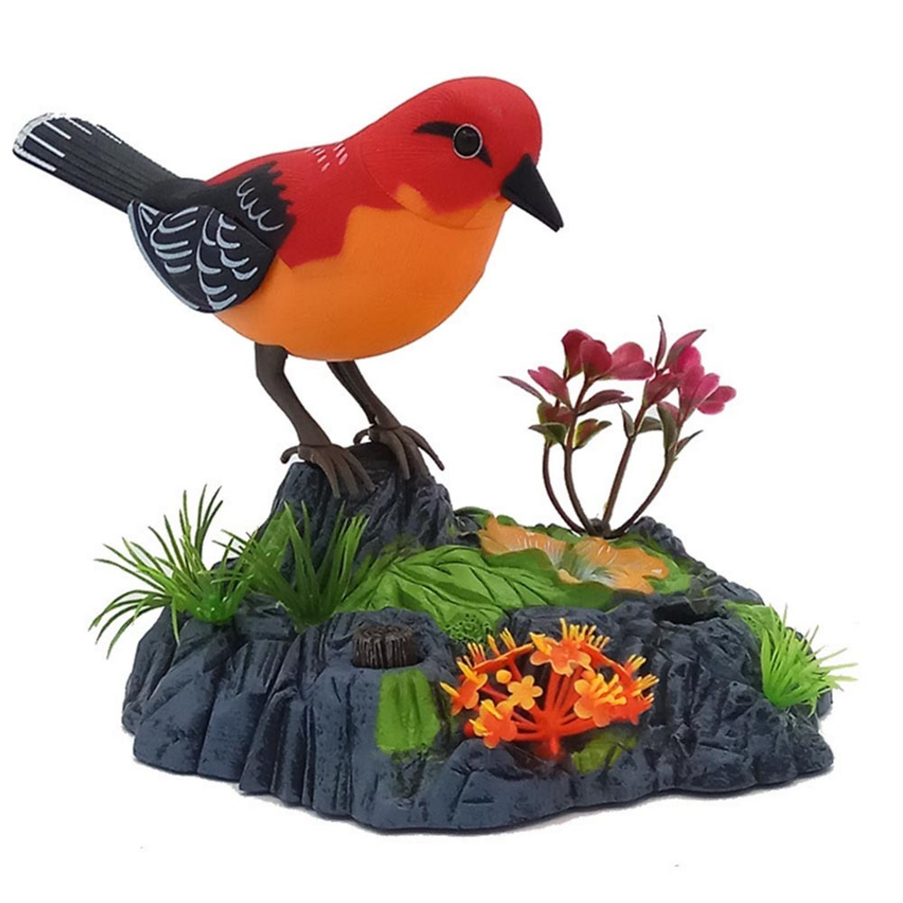 Singing Chirping Birds Toy Voice Control Realistic Sounds Movements Kids Electronic Pet Toys