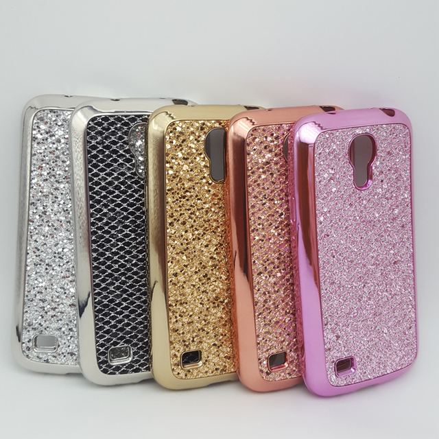 brand new 72c7b 54e09 US $1.82 5% OFF|Luxury Bling Sparkle Glitter Case For Samsung Galaxy S4  Mini i9190 Soft Silicone TPU Cover Shell Phone Cases-in Half-wrapped Case  from ...
