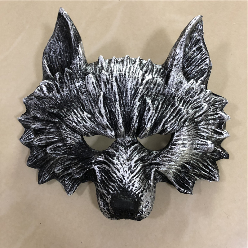 Big 1:1 Cosplay Mask Prop Fierce Beast Black Wolf Mask Movie Game Anime Role Play Halloween Link Cos Kids Gift Safety PU
