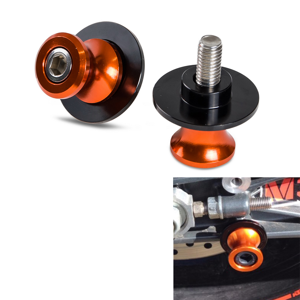 10mm CNC Swing Arm Spools Frame Slider For KTM Duke 125 200 390 RC 125/200/390 690 SMC 950 990 Adventure Adventure 1190 RC8