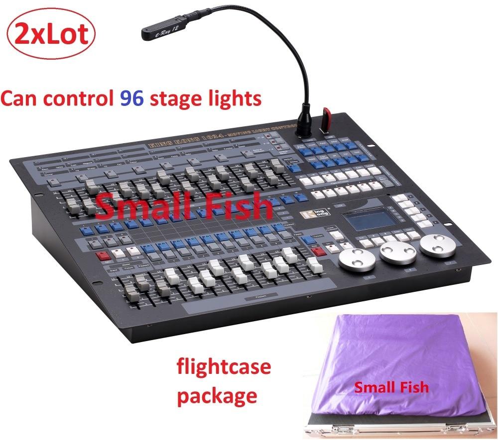 2XLot China King Kong 1024 Channels DMX Lighting Console with Flightcase Professional Stage Lights Controller DJ Disco Equipment машина стиральная gvs4 127dwc3 2 07 7кг 1200об 40см