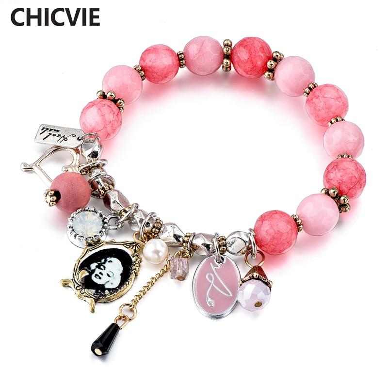 Купить chicvie розовые браслеты ручной работы и с подвесками для женщин