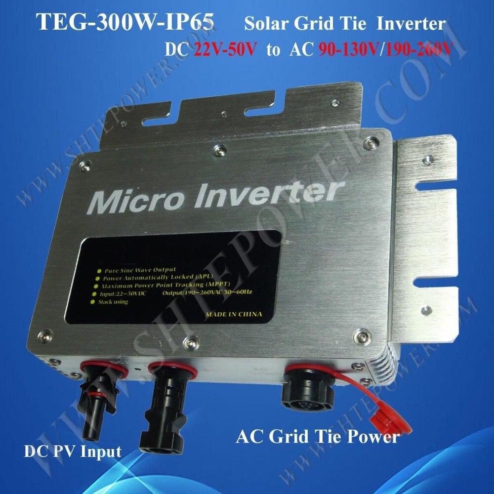 Solar micro inverters IP65 waterproof dc22-50v input to ac output 80-160v 180-260v 300w конденсатор 160v 100uf 160v 100uf 13 25