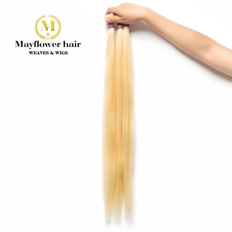 MFH Blonde 613 Virgin Malaysian Straight Hair Weft 1/2/3/4 Bundles 12-28