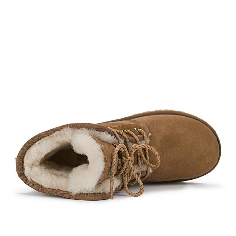 100 35 Nieve 44 Mujer Mujeres De Cuero Botas Invierno gris Clásica maroon Calidad Zapatos Genuino Las Negro Piel Calientes Cargadores Superior Tamaño Verdadera Y5qqgUw