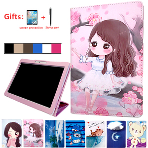 Protective Case For ALLDOCUBE M5 M5s M5x M5xs iplay10 pro PU Leather Stand Cover For ONDA X20 4G Teclast M20 10.1 inch Tablet(China)