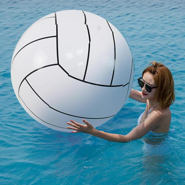 80CM Inflatable Beach Ball Volleyball Inflatable Ball Children's Game Water Toy Ball For Kids Adult Group Game Toys For Children 1