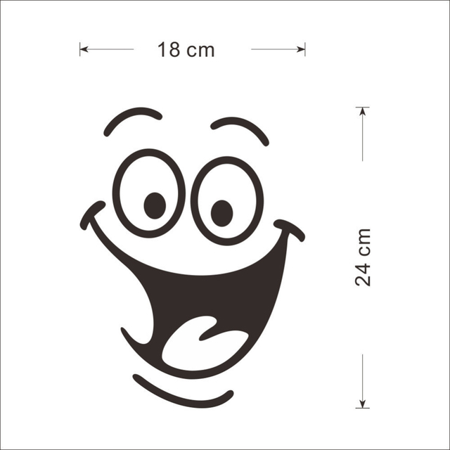 DIY Home Decor Removable Smile Face Funny Bathroom Toilet Seat Art Wall Sticker 3