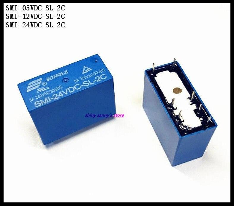 2PCS SMI-24VDC-SL-2C 24VDC ORIGINAL SONGLE Relay 8PIN