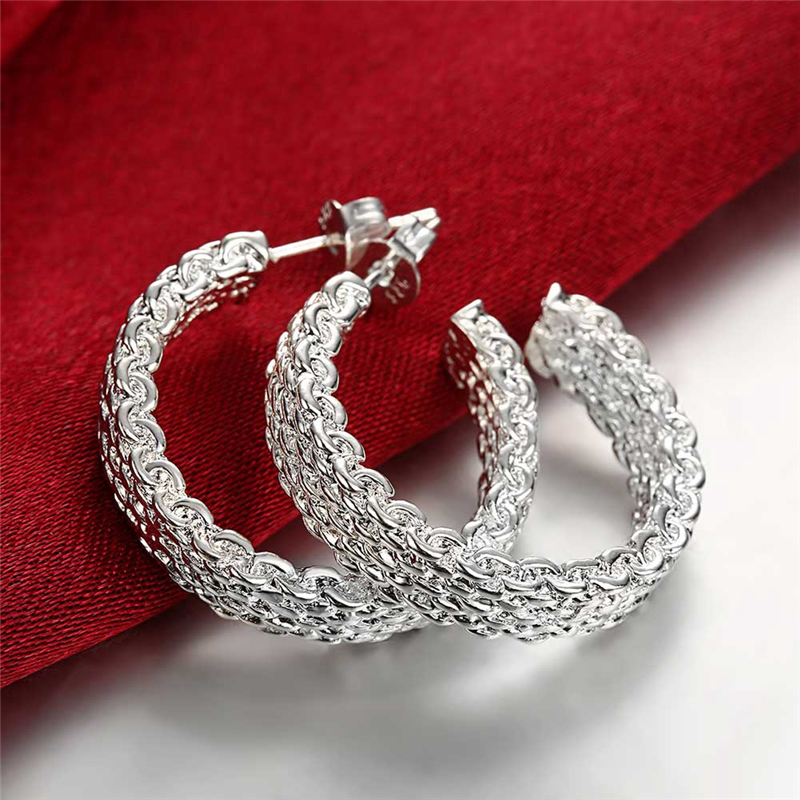 925 Silver Color Earring...