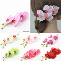 Barrette Women's Butterfly Orchid Flower Hair Pin Clip Bridal Wedding Prom
