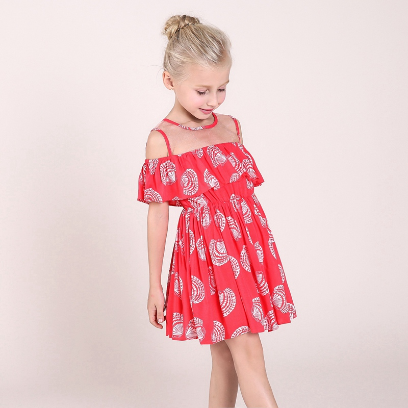 768854576d6 CANDYDOLL Cold Shoulder Dress Girls Ruffled Dresses Summer Elegant Baby  Girls Princess Dresses Kids New 2017 Cotton Cothes-in Dresses from Mother    Kids on ...