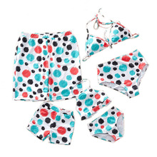 Mommy And Me Bikini Clothes Family Matching Swimwear Mother Daughter Swimsuit Family Look Father Mom Daughter Son Bathing Suit family swimsuits mommy and me clothes mother daughter swimwear floral bathing suits mom girls matching outfits bikini dress look