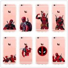 Anime Marvel Soldier Deadpool soft silicone tpu Phone Case For Apple iPhone 5 5S 5C SE 6 6S 7 Plus 6SPlus