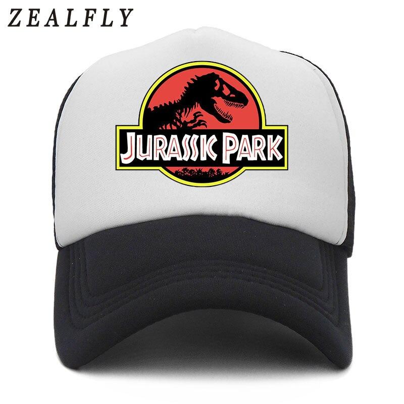 Jurassic Park Dinosaur Mens Hats And   Caps   Summer Mesh Jurassic Park   Baseball     Cap   Hat Cool Dinosaurs Trucker Gorras 2018