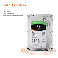 Seagate 2TB Desktop Hybrid Internal Hard Disk Drive 3.5 7200RPM SATA 6Gb/s 64MB Cache Game hard disk ST2000DX002
