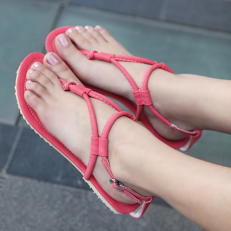 1fa6043fac48 lady flat feet shoes China Direct hot days yards fashion simple solid color  strap thong sandals-in Women s Sandals from Shoes on Aliexpress.com