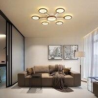 Novo marrom lâmpadas de teto para luzes da sala estar quarto alumínio moderno led luzes teto lamparas techo casa iluminação|Luzes de teto| |  -