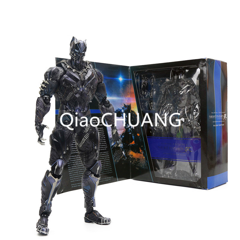 11 Marvel Avengers Super Hero Black Panther PLAY ARTS PVC Action Figures Collectible Model Toy Marvel Toys Retial Box super hero the flash man green lantern action figures toys collectible pvc model toy christmas gift for kids 20cm n006