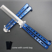 Hot Blue Limited Multi Functional Knife Karambit Knives New Stunning Practice Training Stainless Butterfly Knife Outdoor Comb