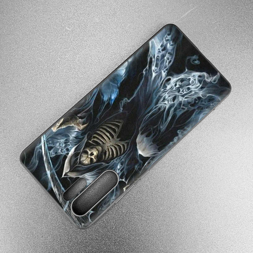 Grim Reaper Skull Skeleton Fitted Case For Huawei P30 P20 Pro P10 lite Honor 8X 8A 8C 10 10i 20i P Smart + Plus Y6 Y7 2019 Cover