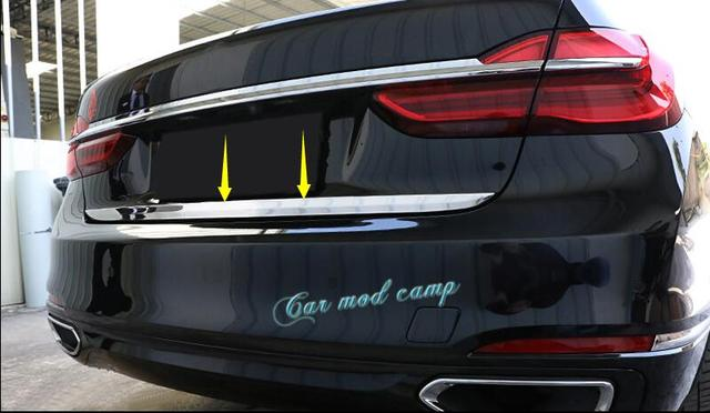 For BMW 7 Series G11 G12 2016 2017 Stainless Steel Rear Tail Gate Molding Cover