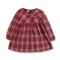 Spring Autumn Girls Dresses Casual Girls Clothes Cotton Red Plaid Long-Sleeved Dresses For Girls Gingham Dress 10 years old