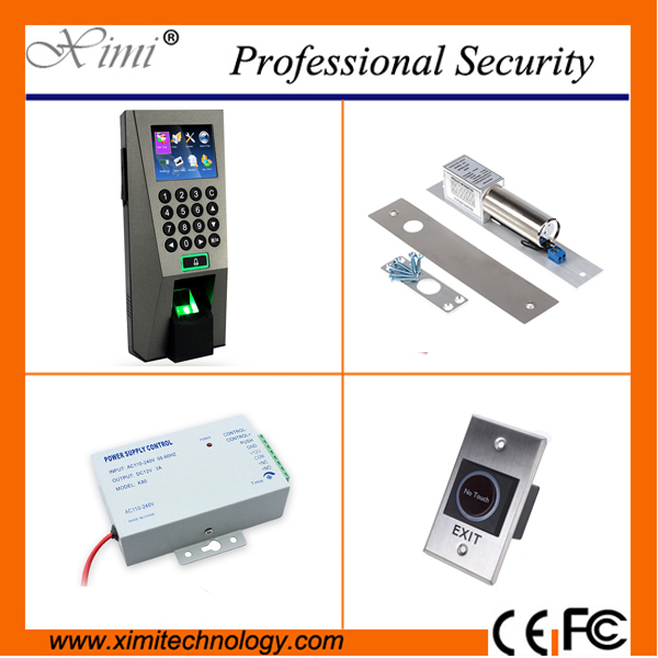 Popular access control TCP/IP network access controller kit Bolt Lock +12V3A power supply+Exit Button kit fingerprint door lock full kit access control biometric fingerprint x6 electric strik lock power supply exit button door bell remote control key cards