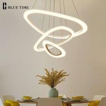 цена Circle Modern Led Pendant Lights For Dining room Living room Kitchen Luminaires Acrylic Led Pendant Lamp Hanging Lamp Fixtures онлайн в 2017 году