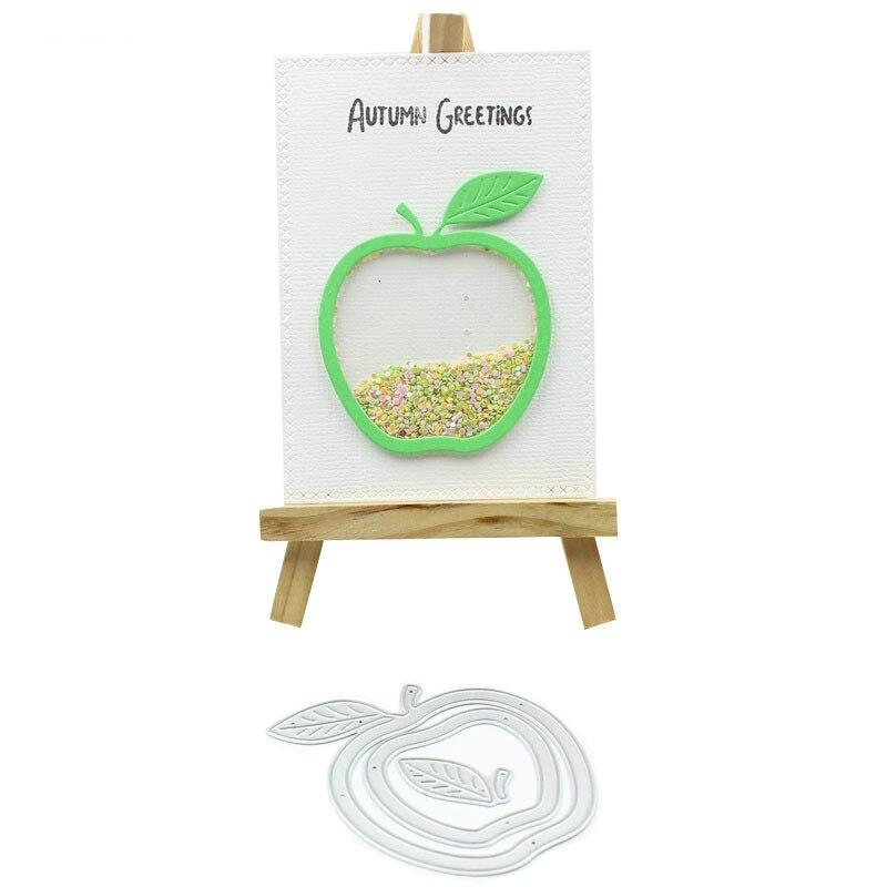 Apple Shaker Card Metal Cutting Dies Stencils for DIY Scrapbooking/photo album Decorative Embossing DIY Paper Cards
