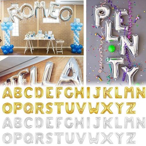 Alphabet Foil Silvers: 40 Inch Festival Birthday Party Wedding Decor Capital