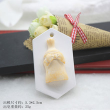 Creative bow bottle aromatherapy plaster mold car wall pendant gypsum craft handmade silicone