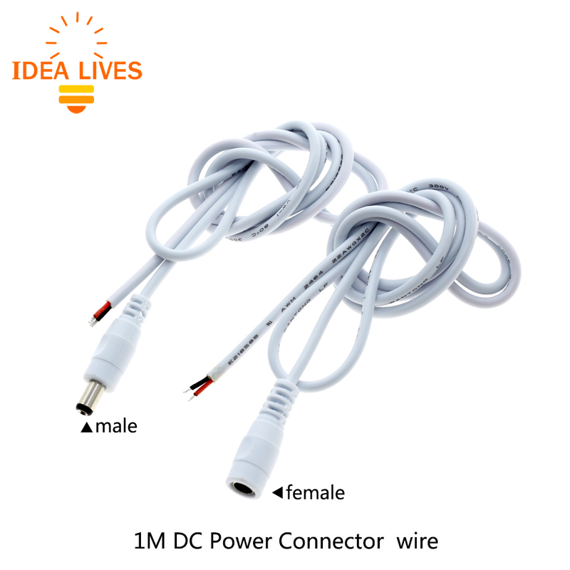 1M DC Power Connector Wire Male / Female For LED Strip dc m клемма
