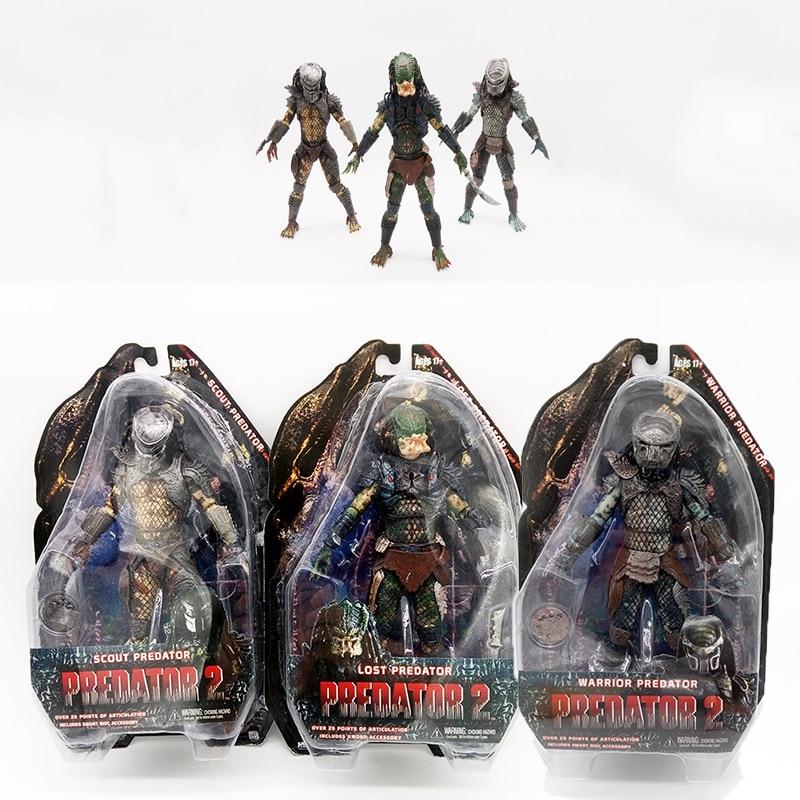 "Predator 2 Scout Predator Action Figure Alien Hunter PVC Doll Toy 8/"""