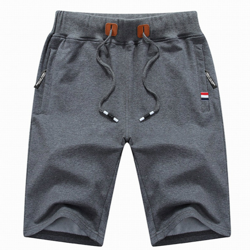 2019 Fitness Solid Shorts Men Summer Cotton Casual Plus Size Male Board Shorts Comfortable Drawstring Mens Short Pants Clothing