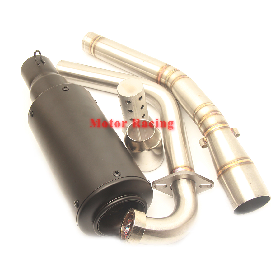 Motorcycle Exhaust Akrapovic System Mid Tube Escape Muffler Adapter Pipe DB Killer for Yamaha R15 2012 2013 2014 2015 2016 2017 in Exhaust Exhaust Systems from Automobiles Motorcycles