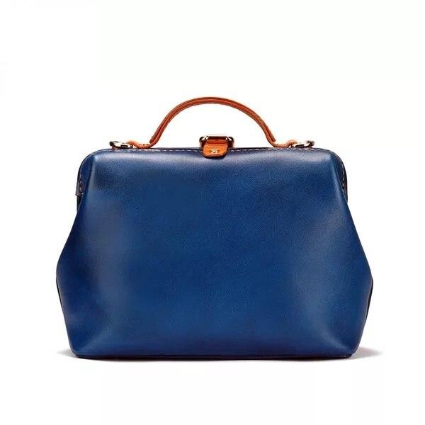 De D'embrayage 100 Véritable Bleu Petit Bourse Épaule mélange Couleur Sac À En Designer Femme Gravé Médecin Femmes Cuir Main Fait vqUwrv