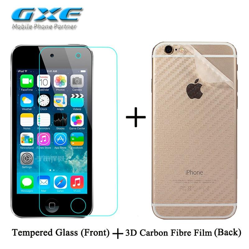 Front Premium Tempered Glass 3D Carbon Fiber Protective Back Film for Meizu M3X MX3 MX4 MX4pro MX5 MX6 U10 U20 Screen Protector