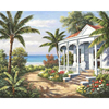 Frameless Vacation Landscape DIY Digital Painting By Numbers Modern Wall Art Canvas Kits Drawing Painting By