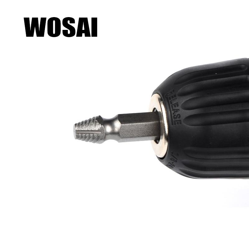 WOSAI HHS Steel 4Pcs Extractor de tornillos Juego de guías de brocas - Accesorios para herramientas eléctricas - foto 4