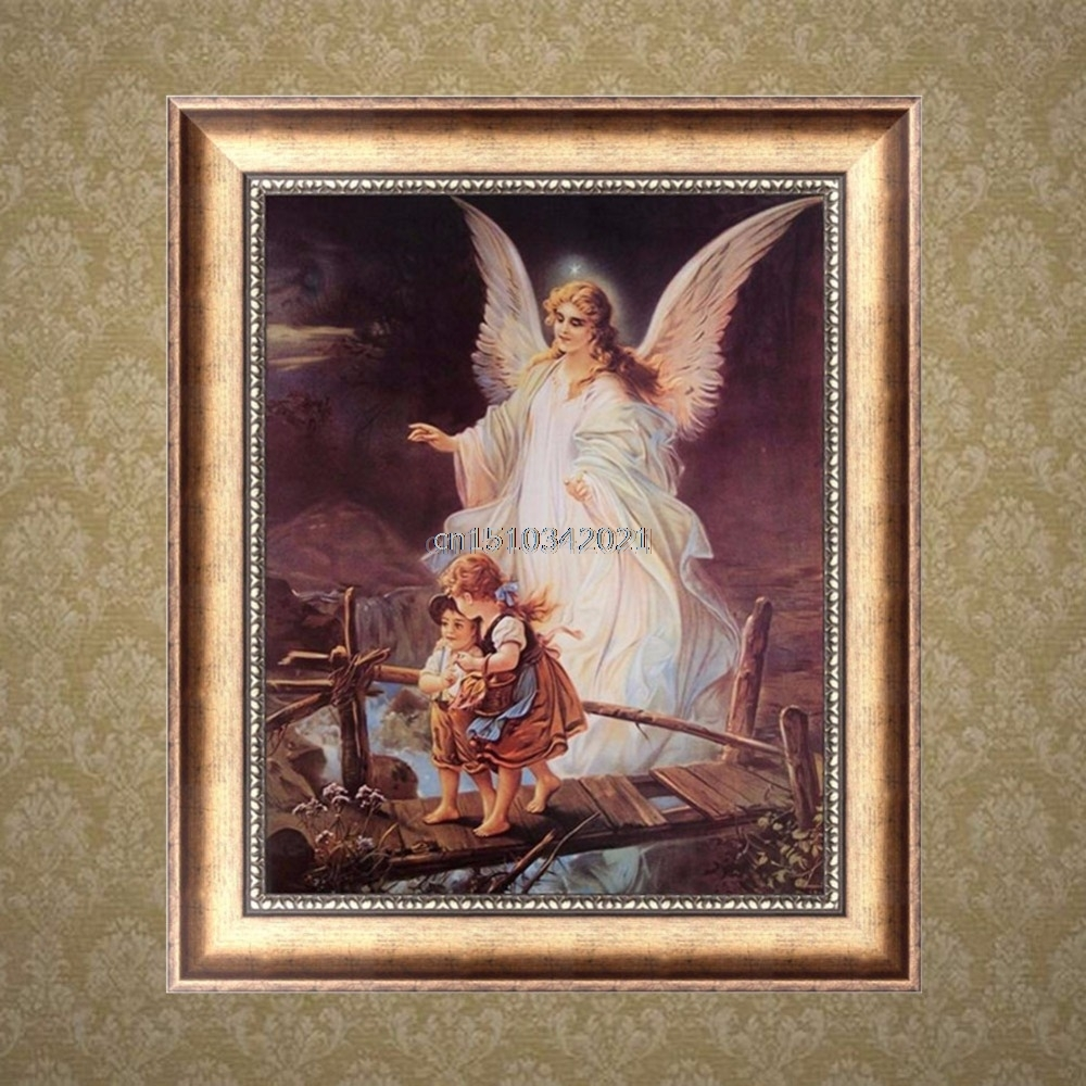 Cross Stitch Guardian Angel DIY 5D Diamond Embroidery Painting Cross Stitch Craft Home Decor